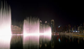 Famous dubai musical fountain, United Arab Emirates Stock Images