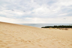 Famous Dune of Pilat in France. Famous Dune of Pilat. Dune du Pilat, the highest sand dune in Europe, located in the Arcachon Bay area, France Royalty Free Stock Photos