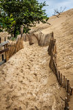 The Famous dune of Pyla fences, the highest sand dune in Europe Royalty Free Stock Photos