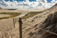 Famous dunes in Leba - Poland. Royalty Free Stock Image