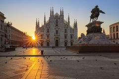 Famous Duomo at sunrise Royalty Free Stock Image