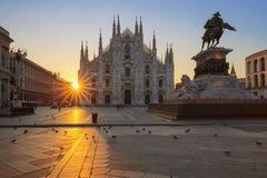 Famous Duomo at sunrise Royalty Free Stock Image