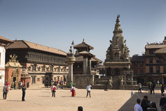 The famous Durbar square of Bhaktapur Stock Images