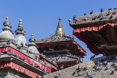 The famous Durbar square in Kathmandu, Nepal. Royalty Free Stock Photos