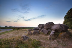 Famous Dutch Dolmen Oddity. Ancient Dolmen Tombstone near Assen, The Netherlands Stock Photography
