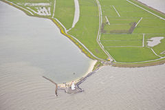 Famous Dutch lighthouse at Marken Stock Photos