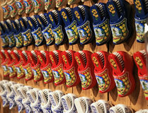 The famous Dutch wooden shoes Stock Images