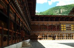 The famous dzong of Paro royalty free stock images