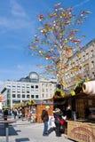 Famous easter market, Wenceslas square, Prague, Czech republic. Stock Photo