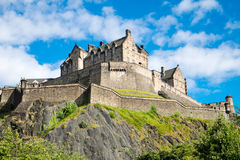 The famous Edinburgh castle. In Scotland on a sunny day Royalty Free Stock Photos
