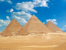Famous egyptian pyramids Stock Photos