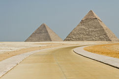 Famous Egyptian pyramids Royalty Free Stock Image