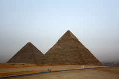 Famous egyptian pyramids in Giza. Near Cairo Royalty Free Stock Images