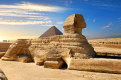 Famous egyptian sphinx Royalty Free Stock Photos