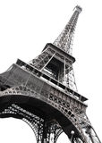 Famous Eiffel Tower. Of Paris isolated on white Royalty Free Stock Image