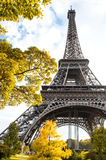 Famous Eiffel Tower in autumn Royalty Free Stock Photography