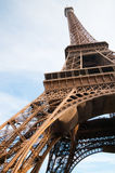 Famous Eiffel Tower in Paris,. Vertical oriented image famous Eiffel Tower in Paris, France Stock Photo
