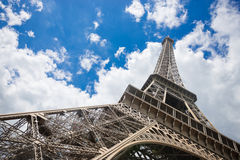 Famous Eiffel Tower in Paris Royalty Free Stock Photo