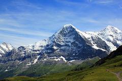 The famous Eiger north face, mountains landscape Switzerland Stock Photo