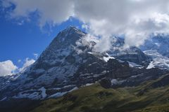 Famous Eiger North Face Royalty Free Stock Photo