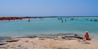 The famous elafonisi beach,Crete,Greece Royalty Free Stock Image
