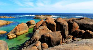The famous Elephant Rocks in William Bay, Western Australia. The sheltered Elephant Rocks beach in William Bay National Park, Western Australia stock photography