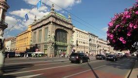 Famous Eliseev Kupetz Food Hall on Nevsky street stock footage