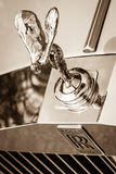 The famous emblem Spirit of Ecstasy on the Rolls-Royce Silver Spirit Royalty Free Stock Photography