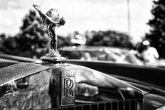 The famous emblem Spirit of Ecstasy on a Rolls-Royce Corniche Royalty Free Stock Photos