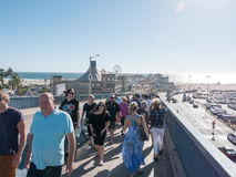 Famous End Of Route 66 On The Santa Monica Pier Stock Images