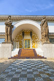 Famous entrance to the Ernst-Ludwig House at the mathildenhoehe Royalty Free Stock Photography