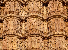 Famous erotic temple in Khajuraho, India Royalty Free Stock Images