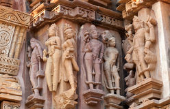Famous erotic temple in Khajuraho, India Stock Photos