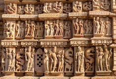 Famous erotic temple in Khajuraho, India Royalty Free Stock Photos