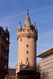 Famous Eschesheimer Turm in Frankfurt Stock Photography