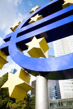 Famous euro sign in Frankfurt Stock Photo