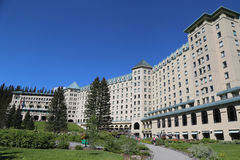 Famous Fairmont Chateau Lake Louise Hotel Stock Photos