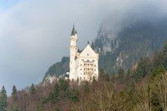 The famous fairytale castle Neuschwanstein near the alps stock photos