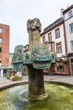 Famous Fastnachtsbrunnen at central Market in Bingen Stock Image