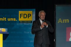 The famous FDP politician and parliamentary candidate Wolfgang Kubicki Royalty Free Stock Photography