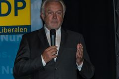 The famous FDP politician and parliamentary candidate Wolfgang Kubicki Stock Image