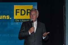 The famous FDP politician and parliamentary candidate Wolfgang Kubicki Stock Photography