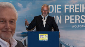 The famous FDP politician and parliamentary candidate Wolfgang Kubicki Royalty Free Stock Image