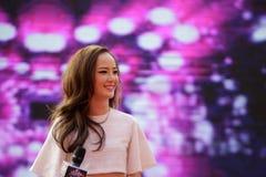 Famous female singer chenyiling singing Royalty Free Stock Photo