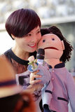 Famous female singer zhouyan ventriloquist show Royalty Free Stock Photography