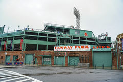 The famous Fenway Park stadium in Boston - BOSTON , MASSACHUSETTS - APRIL 3, 2017 stock image