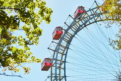 Famous Ferris Wheel of Vienna Stock Photo