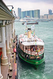 Famous ferry on Victoria harbor in Hong Kong Royalty Free Stock Photos