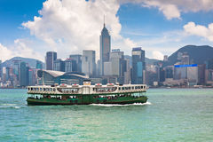 Famous ferry on Victoria harbor in Hong Kong Royalty Free Stock Images