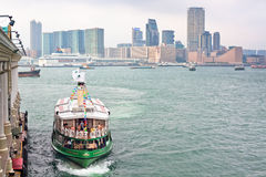 Famous ferry on Victoria harbor in Hong Kong Stock Images